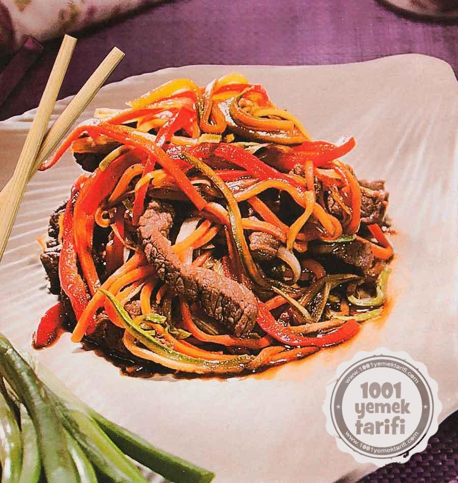serit Sebzeli Et Sote Tarifi-Nefis Et Sote Nasil Yapilir-etli yemek tarifleri-sebzeli yemek tarifleri-100yemektarifi