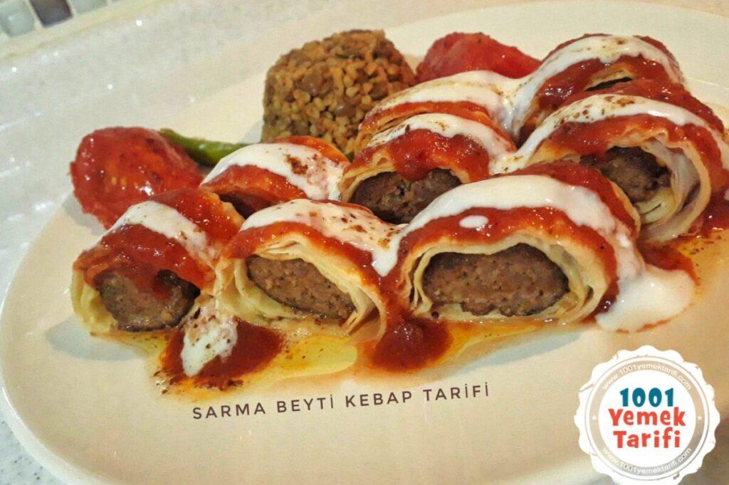Sarma Beyti Kebap Tarifi yapımı nasıl yapılır kaç kalori-1001yemektarifi
