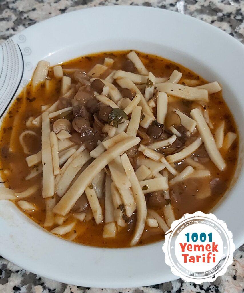 kesme çorbası tarifi-erişte çorbası yapımı nasıl yapılır kaç kalori