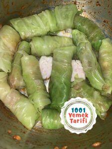beyaz lahana sarması tarifi yapımı nasıl yapılır kac kalori-nefis-kolay