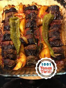 Fırında Patlıcan Kebabı Tarifi-nasıl yapılır-kaç kalori