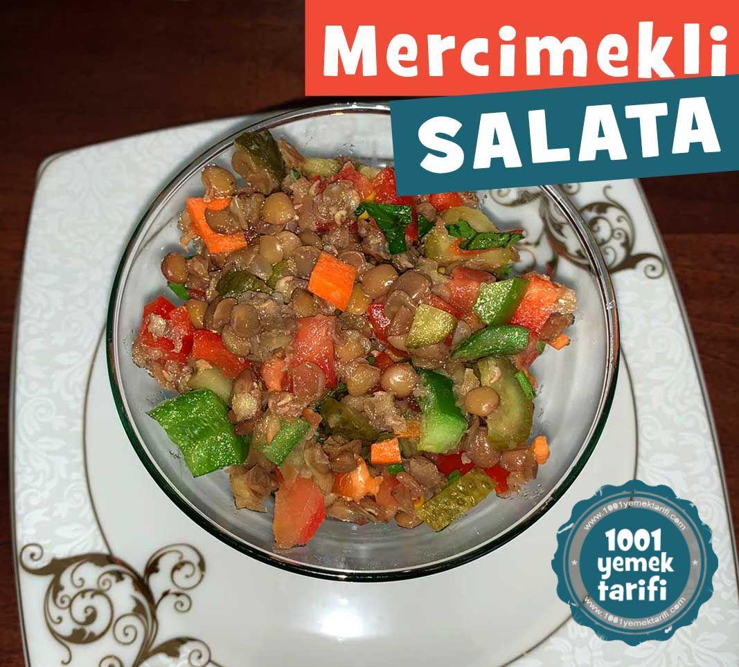 Bol Vitaminli Yeşil Mercimek Salatası
