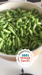 Kışlık Taze Fasulye (buzluk için) yeşil fasulye-1001yemektarifi