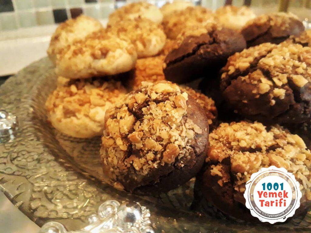 Cevizli Kurabiye Tarifi nasıl yapılır-kakaolu kurabiye yapımı-1001yemektarifi