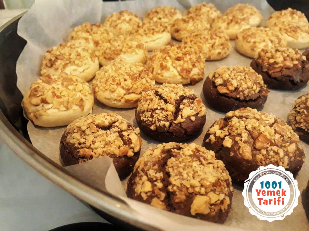 Cevizli kurabiye tarifi nasıl yapılır puf noktası kac kalori-1001yemektarifi