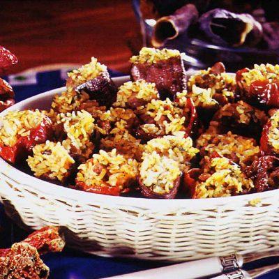 Kurutulmuş Patlıcan, Domates ve Biber Dolması Tarifi