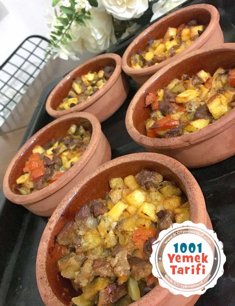 etli guvec tarifi-sebzeli guvec yapimi-firinda guvec nasil yapilir-kac kalori