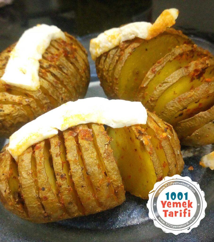 fiirnda Yelpaze Patates Tarifi yapimi nasil yapilir-kac kalori